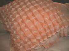 SHABBY COTTAGE VINTAGE ORANGE GINGHAM THROW PILLOW HANDMADE COUNTRY CHIC