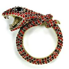 "Brillante Cristal Serpiente Pin 2.25"" Broche Diamante Imitacion Alta Calidad"