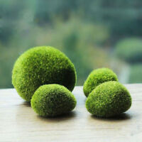 2Pcs Green Moss Balls aquarium fake Artifical plants java shrimps nano tank