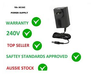 18V AC 1AMP Power Supply Adapter 18 VOLT 1000MA 1000 MA 1A AUS 240v
