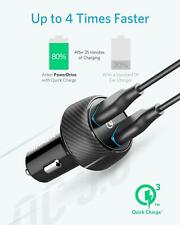 Anker Quick Charge 3.0 39W Dual USB Car Charger, PowerDrive Speed 2