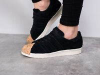 ADIDAS UNISEX BLACK CORK SUPERSTAR 1980's SHOES PARTY-WEAR PLAYING GYM ALL SIZES