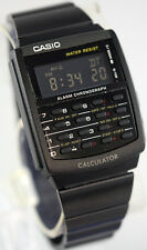 Casio CA-506B-1A Black Stainless Steel Calculator Watch BLACKOUT Vintage New