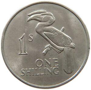 ZAMBIA 1 SHILLING 1964 #s40 185