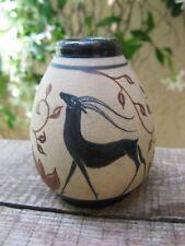 petit vase Ciboure  décor à l'antique H Touton  gazelles oryx