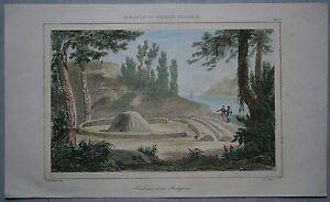 1836 print TOMB OF AN ABORIGINE, AUSTRALIA (#265)