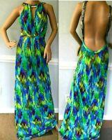 $995 Matthew Williamson Escape Embellished Long Maxi Gown Dress US 4 6 8 / UK 12