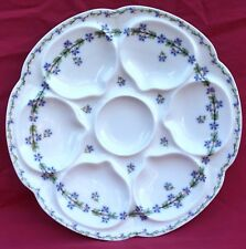 LIMOGES Theodore HAVILAND Oyster Plate Cornflower  French Porcelain 1890