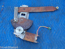 1977 COUGAR LEFT DOOR WINDOW REGULATOR & LIFT MOTOR OEM USED ORIG MERCURY FORD