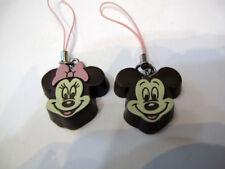 Yujin Disney Mickey Mouse Minnie Mouse Chocolate Mascot phone strap (2pcs)