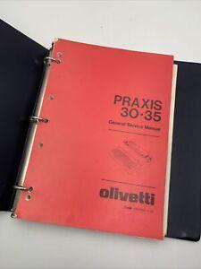 Olivetti Praxis 30 35 Typewriter General Service Manual Shop Repair Book Vintage