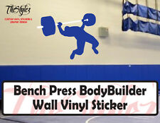 Bench Press BodyBuilder Oversize Wall Vinyl Sticker