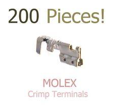 200 Molex 2.00mm Pitch Crimp Terminal, Female, 24-30 AWG P/N 050212-8000