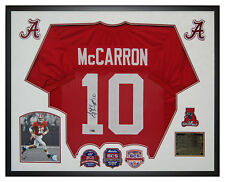 AJ McCarron Alabama Crimson Tide Autographed Jersey Custom Framed Shadow Box BCS
