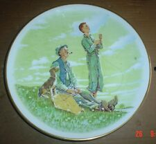 Gorham Bone China Collectors Plate SPRING - SOARING SPIRITS Norman Rockwell