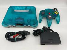Nintendo 64 N64 Konsole clear Blue mit original Controller + Zubehörpaket