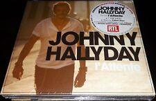 JOHNNY HALLYDAY COFFRET EXCUSIVITE CARREFOUR CD+DVD+CD SINGLE L ATTENTE NUMEROTE