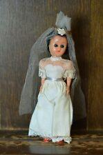 Fabulous RARE VINTAGE Costume Doll of a Beautiful Bride wedding Dress 20cm Tall