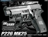 Academy P226 MK25 Spring Airsoft Powered Pistol Hand Grips 6mm BB Gun Military