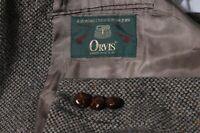 Orvis Men's Brown Donegal Tweed Sport Coat Jacket Blazer Leather Elbow Patch 44R