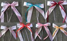 Noeud satin ruban décoration de salle mariage baptême baby shower voiture 10 pcs