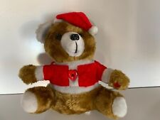 Beautiful Large 13 Inch High Santa Teddy Bear. Plays Christmas Music.