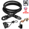 "40"" Black Camera Rope Strap HandMade Durable Singing Rock Static For Lieca Sony"