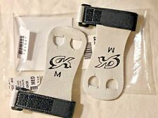 Was $15.99 Nwt! Gk Elite Sportswear Hand Grips With Straps #Gk32 Black Size M