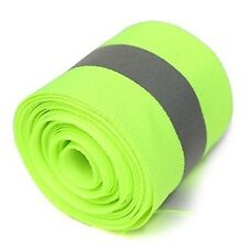 Actopus 10M(L) 5X1.5cm Lime Green Reflective Safety Sew On Fabric Tape Vest T...
