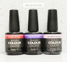 Artistic Nail Design Colour Gloss SET OF 3 Colors Gel Lot Kit 0.5 oz - Ship 24H