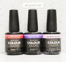 Artistic Nail Design Colour Gloss SET OF 3 Colors Gel Lot Kit 0.5 oz - Ship 24H