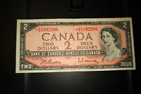 1954 Replacement $2 Dollar Bank of Canada Banknote *BB1892996