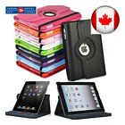 For iPad Case Cover Leather Shockproof 360 Rotating Stand ALL MODELS  <br/> Fast and free shipping from CANADA !!!