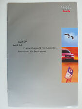 Prospekt Audi A4 / A6 - Fahrhilfen für Behinderte, 9.1995, 10 Seiten