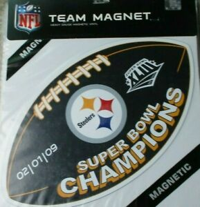 Pittsburgh Steelers SUPER BOWL XLIII CHAMPIONS 12 INCH MAGNET ! FREE SHIPPING !