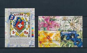 LO59553 Switzerland stamp expo flowers nature sheets MNH
