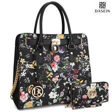 New Womens Handbags Leather Satchels Tote Bag Padlock Top Handle Purse w/ Wallet
