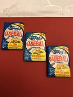 Vintage 1989 Topps Major League Baseball Cards Wax Pack Sealed (3 Pack Lot)