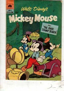 WALT DISNEY COMIC 'MICKEY MOUSE  M.52    FINE/V FINE     1961