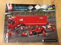 Lego SPEED CHAMPIONS 75913 F14 T & Scuderia Ferrari Truck instruction MANUAL