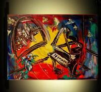 JAZZ ART  OIL PAINTING CREATED  BY MARK KAZAV  Modern  Original Oil Abstract