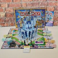 Monopoly The Disney Edition Pop Up Castle Board Game Golden Tinkerbell 2004 Rare