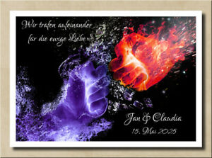 Bild Hände Feuer Magie magische Liebe Verlobung Hochzeitstag Spruch Geschenk
