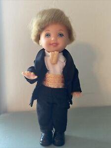 "Mattel Barbie KELLY DOLL LIL GENTLEMAN TOMMY All Grown Up, tuxedo, 4"" tall"