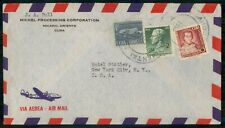 MayfairStamps Habana 1955 to New York Air Mail Cover WWH94085