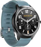 Blackhorse Smart Watch Color Touchscreen Fitness/Sleep Tracker, Waterproof BLACK