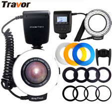 Travor 48LED Ring Flash Light RF-550D Macro for Nikon Canon Olympus Camera UK