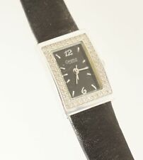 Caravelle Bulova Women's 43L67 Watch Black Analog Dial Leather Strap