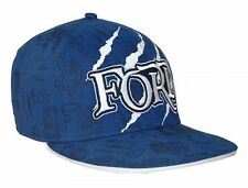 Ford Mens Blue Engine Parts Claw Printed Cotton Flat Peak Hat One Size