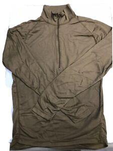 new Sekri PCU Level 1 Pullover Long Sleeve Shirt Medium L 1/2 Zip Coyote Brown